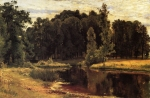 Ivan Ivanovich Shishkin (1832 – 1898)   A pond in the old park. Etude   Oil on canvas, 1897   43.3 x 67.1 cm