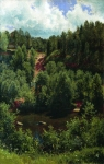 Ivan Ivanovich Shishkin (1832 – 1898)   After the rain. Sketch of the forest.   Oil on canvas, 1881   103 x 68 cm