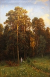 Ivan Ivanovich Shishkin (1832 – 1898)   At the edge of a pine forest.   Oil on canvas, 1882