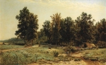 Ivan Ivanovich Shishkin (1832 – 1898)   At the edge of an oak forest.   Oil on canvas, 1882   86 x 139 cm