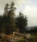 Ivan Ivanovich Shishkin (1832 – 1898)   At the edge of the forest  Oil on canvas