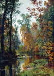 Ivan Ivanovich Shishkin (1832 – 1898)   Autumn Landscape. Park in Pavlovsk.   Oil on canvas, 1888   41 x 31 cm