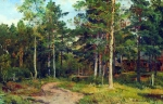 Ivan Ivanovich Shishkin (1832 – 1898)   Autumn Landscape. The path in the woods.   Oil on canvas, 1894   44.2 x 68 cm