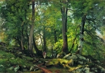 Ivan Ivanovich Shishkin (1832 – 1898)   Beech Forest in Switzerland   Oil on canvas, 1863-1864   85.5 x 124 cm