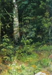 Ivan Ivanovich Shishkin (1832 – 1898)   Birch and tansy   Oil on canvas, 1878   38 x 28.5  cm