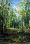 Ivan Ivanovich Shishkin (1832 – 1898)   Birch Grove    Oil on canvas, 1875   115 x 88 cm