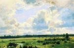Ivan Ivanovich Shishkin (1832 – 1898)   Cloudy day.   Oil on canvas  23.7 x 36.6 cm