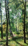 Ivan Ivanovich Shishkin (1832 – 1898)   Deciduous forest   Oil on canvas, 1897     62.2 x 41.7 cm