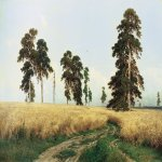 Ivan Ivanovich Shishkin (1832 – 1898)   Rye  Oil on canvas, 1878  107х187 cm  The State Tretyakov Gallery, Moscow, Russia