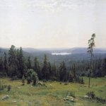 Ivan Ivanovich Shishkin (1832 – 1898)   Wood distances  Oil on canvas, 1884  113х164  cm  The State Tretyakov Gallery, Moscow, Russia