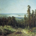 Ivan Ivanovich Shishkin (1832 – 1898)   The Kama Near Yelabuga  Oil on canvas, 1895  106х177 см  cm  The Art Museum, N. Novgorod, Russia