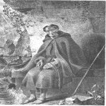 Taras Hryhorovych Shevchenko (1814 - 1861)   Catholic monk  Illustration to work MI Nadyezhdina В«The Power of oxenВ»  Engraving on steel, 1841  State Shevchenko Museum, Kyiv, Ukraine