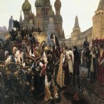 Vasily Ivanovich Surikov (1848 - 1916)  Morning of the ution  Oil on canvas, 1881   218х379 cm  The Tretyakov Gallery, Moscow, Russia