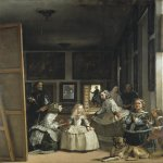 Diego Rodríguez de Silva y Velázquez (1599 � 1660)   Las Meninas (The Maids of Honour)  Oil on canvas, 	1656  318 cm × 276 cm (125.2 in × 108.7 in)  Museo del Prado, Madrid, Spain