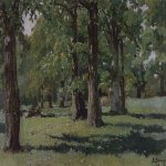 Vasnetsov Viktor Mikhailovich (1848 — 1926)  Oak Grove in Abramtsevo, 1883  Oil on canvas  The State Tretyakov Gallery, Moscow, Russia