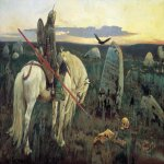 Vasnetsov Viktor Mikhailovich (1848 � 1926)  A Knight at the Crossroads, 1882  Oil on canvas  167 x 308 cm  The State Russian Museum, St. Petersburg, Russia