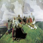 Vasnetsov Viktor Mikhailovich (1848 — 1926)  Bayan, 1910  Oil on canvas  303x408 cm  The State Russian Museum, St. Petersburg, Russia
