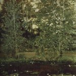 Vasnetsov Viktor Mikhailovich (1848 — 1926)  Pond in Okhtirka, 1880  Etude for the painting
