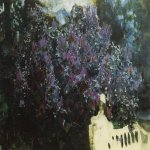 Mikhail Vrubel (1856-1910)  Lilac  Another option  Oil on canvas, 1901  The Tretyakov Gallery in Moscow, Russia