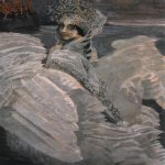 Mikhail Vrubel (1856-1910)  Swan princess  Oil on canvas, 1900  142,5x93,5 cm  The Tretyakov Gallery in Moscow, Russia