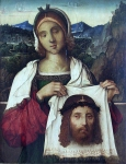 Francesco da Cotignola, called Zaganelli (c. 1475 - 1532) Veronica Oil on wood 2nd half of 15th century City Museum, Rimini, Italy