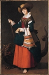Francisco de Zurbaran (November 7, 1598 – August 27, 1664) Saint Margaret of Antioch Oil on canvas, 1630­4  163 x 105 cm National Gallery, London, UK