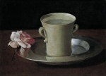 Francisco de Zurbaran (November 7, 1598 – August 27, 1664) Cup of Water and a Rose on a Silver Plate Oil on canvas, about 1630 21.2 x 30.1 cm National Gallery, London, UK
