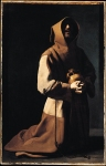 Francisco de Zurbaran (November 7, 1598 – August 27, 1664) Saint Francis in Meditation Oil (identified) on canvas, 1635­9  152 x 99 cm National Gallery, London, UK