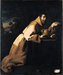 Francisco de Zurbaran (November 7, 1598 – August 27, 1664) Saint Francis in Meditation Oil on canvas,  1639 162 x 137 cm National Gallery, London, UK