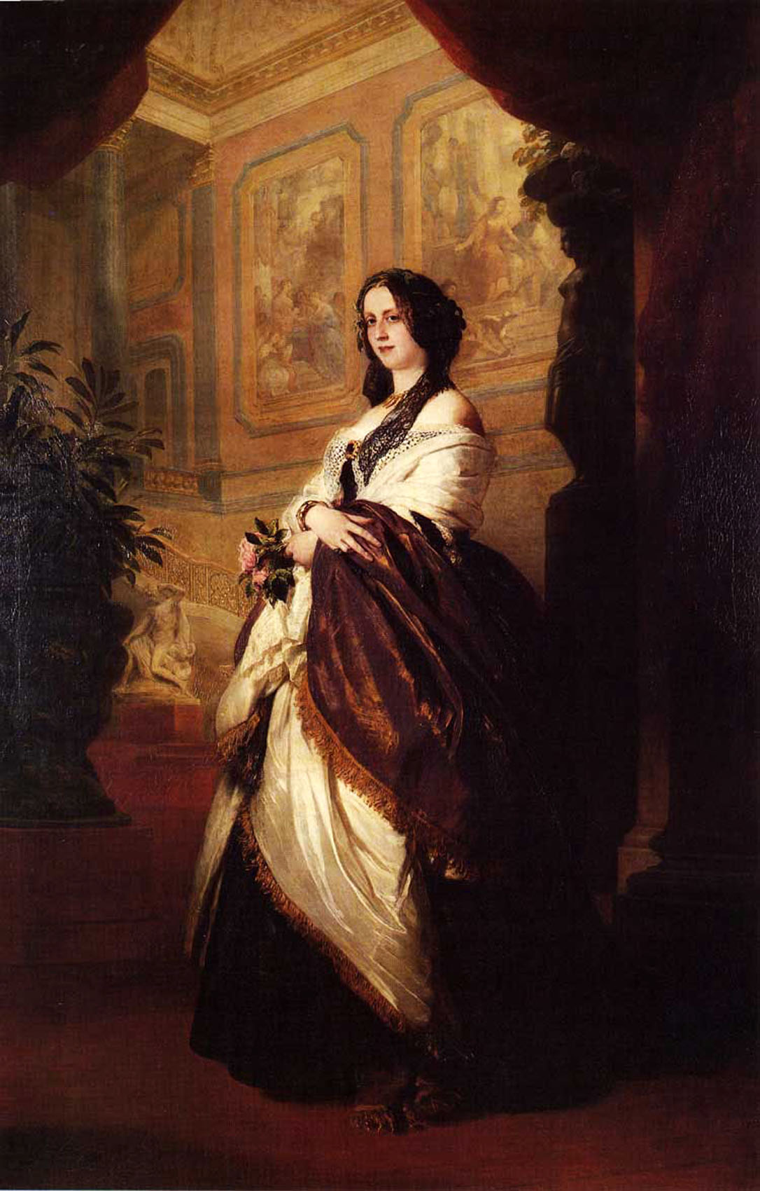 Franz Xavier Winterhalter (1805-1873) Harriet Howard, Duchess of Sutherland Oil on canvas Private collection