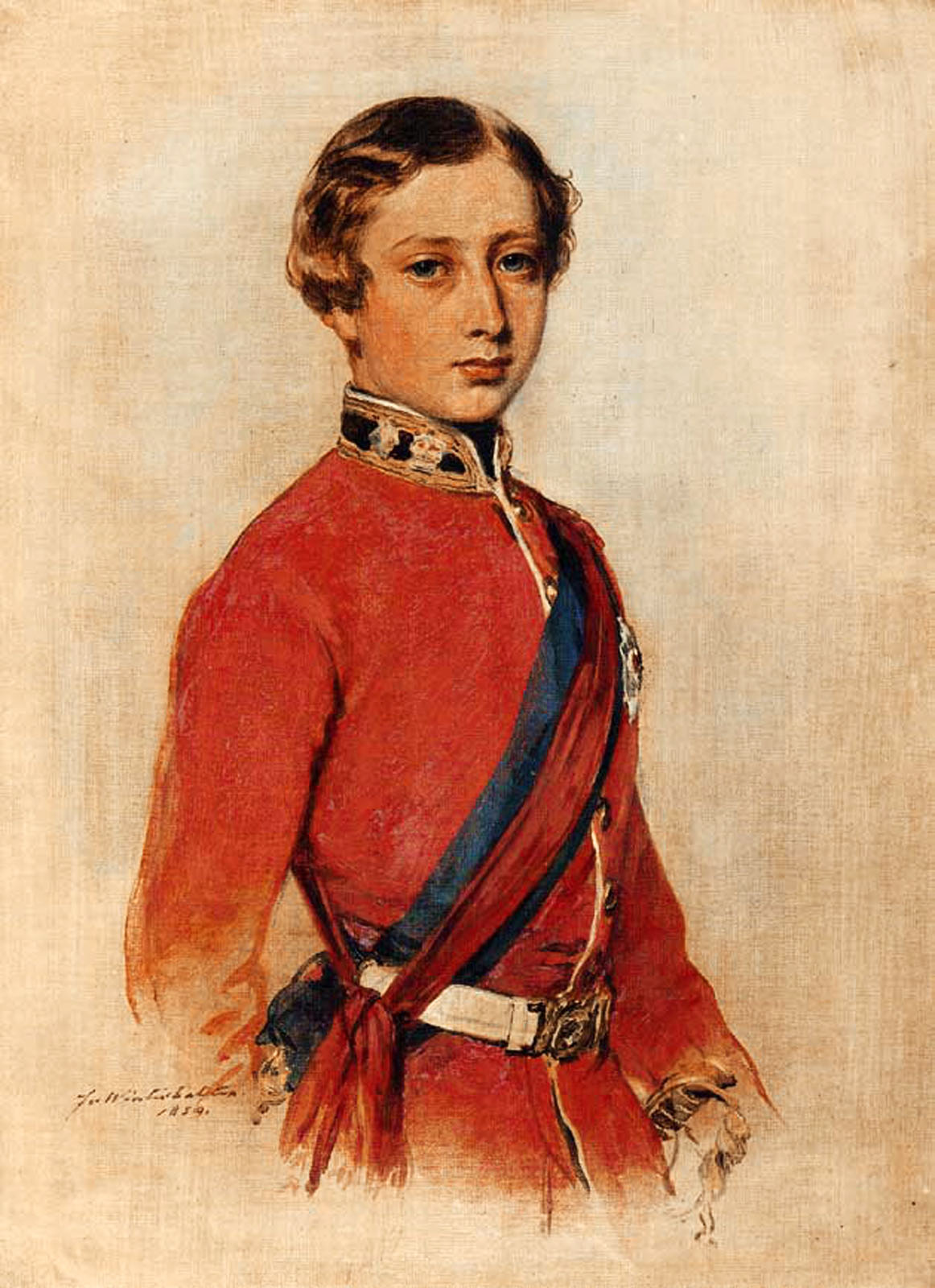 Franz Xavier Winterhalter (1805-1873) Albert Edward, Prince of Wales Oil on canvas, 1859 Private collection