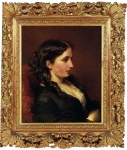 Franz Xavier Winterhalter (1805-1873) Study of a Girl in Profile Oil on canvas, 1862 Private collection