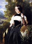 Franz Xavier Winterhalter (1805-1873) A Swiss Girl from Interlaken Oil on canvas Private collection