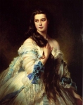 Franz Xavier Winterhalter (1805-1873) Madame Barbe de Rimsky­Korsakov Oil on canvas, 1864 Musee d'Orsay (Paris, France)