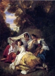 Franz Xavier Winterhalter (1805-1873) La Siesta Oil on canvas, 1841 Private collection