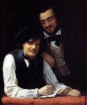 Franz Xavier Winterhalter (1805-1873) Self Portrait of the Artist with his Brother, Hermann Oil on canvas, 1840 Private collection