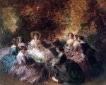 Franz Xavier Winterhalter (1805-1873) The Empress Eugenie Surrounded by her Ladies in Waiting Oil on canvas, 1855 Private collection