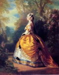 Franz Xavier Winterhalter (1805-1873) The Empress Eugenie a la Marie­Antoinette Oil on canvas, 1854 Private collection