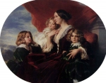 Franz Xavier Winterhalter (1805-1873) Elzbieta Branicka, Countess Krasinka and her Children Oil on canvas, 1853 Private collection