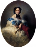 Franz Xavier Winterhalter (1805-1873) Countess Varvara Alekseyevna Musina­Pushkina Oil on canvas, 1857 Private collection