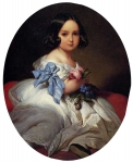 Franz Xavier Winterhalter (1805-1873) Princess Charlotte of Belgium Oil on canvas, 1842 Private collection