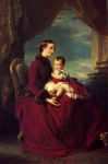 Franz Xavier Winterhalter (1805-1873) The Empress Eugenie Holding Louis Napoleon, the Prince Imperial on her Knees Oil on canvas, 1857 Private collection