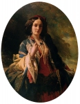 Franz Xavier Winterhalter (1805-1873) Katarzyna Branicka, Countess Potocka Oil on canvas, 1854 Private collection