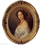 Franz Xavier Winterhalter (1805-1873) Malcy Louise Caroline Frederique Berthier de Wagram, Princess Murat Oil on canvas, 1854 Private collection