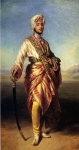 Franz Xavier Winterhalter (1805-1873) The Maharajah Duleep Singh Oil on canvas, 1854 Private collection