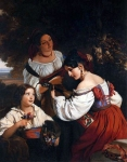 Franz Xavier Winterhalter (1805-1873) Roman Genre Scene Oil on canvas, 1833 Private collection