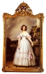 "Franz Xavier Winterhalter (1805-1873) A Full­Length Portrait Of H.R.H Princess Marie­Clementine Of Orleans Oil on canvas, 1838 137 x 206 cm (4\' 5.94"" x 6\' 9.1\"") Private collection"