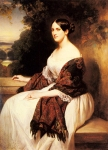 "Franz Xavier Winterhalter (1805-1873) Portrait of Madame Ackerman, the wife of the Chief Finance Minister of King Louis Philippe Oil on canvas, 1838 130.5 x 97.8 cm (4\' 3.38"" x 3\' 2½\"") Private collection"