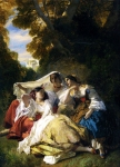 "Franz Xavier Winterhalter (1805-1873) La Siesta Oil On Canvas, 1844 58 x 44 cm (22.83"" x 17.32\"") Private collection"