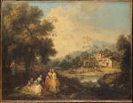Giuseppe Zais (March 22, 1709 – October 29, 1784) Landscape with a Group of Figures probably 1770­80 Oil on canvas 49.5 x 65.5 cm National Gallery, London, UK